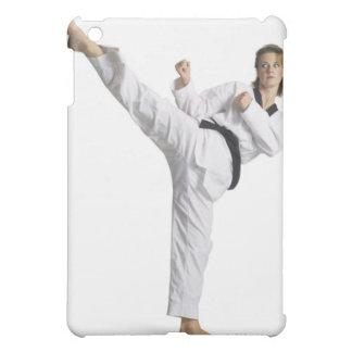 adult caucasian female martial arts expert in iPad mini cover
