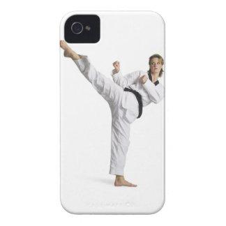 adult caucasian female martial arts expert in iPhone 4 cover