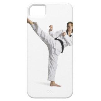 adult caucasian female martial arts expert in iPhone SE/5/5s case