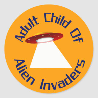 Adult Child Of Alien Invaders Classic Round Sticker