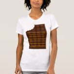 Adult choclate bar with chunk taken out and words t-shirt