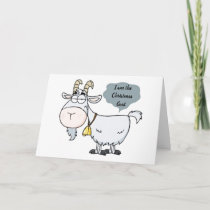 **ADULT CHRISTMAS GOAT** ADULTS ONLY CARD