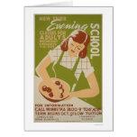 Adult Classes Winnetka 1941 WPA Card