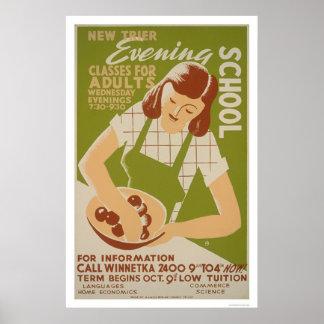 Adult Classes Winnetka 1941 WPA Poster