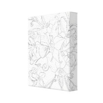 Adult Color Yourself Flower Butterfly Wall Canvas