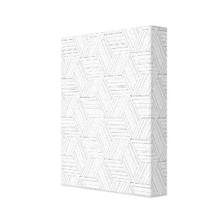 Adult Color Yourself Geometric Wall Canvas