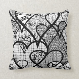 Adult Coloring Abstract Throw Pillow Home Decor