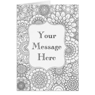 Adult Coloring Greeting Cards | Zazzle