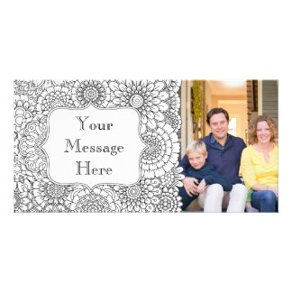 Adult Coloring Book Personalized Photo Card