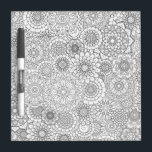 """Adult Coloring Book Style Dry Erase Board SMALL<br><div class=""""desc"""">Take a break from your adult coloring books,  and break out the dry erase markers. Enjoy the benefits of coloring mindfulness over and over again. Color it a hundred different ways,  then erase it and start all over. Add your own personal message.</div>"""