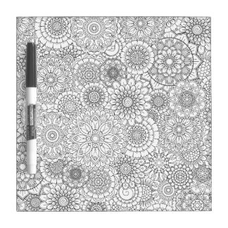 Adult Coloring Book Style Dry Erase Board SMALL
