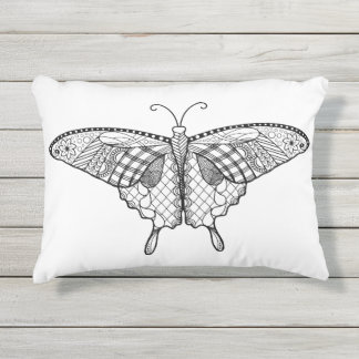 Adult Coloring Butterfly Pillow
