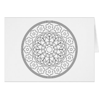 Adult Coloring Flower Note Card with Envelope