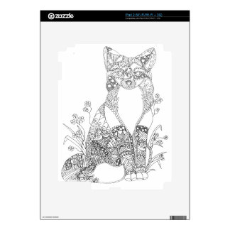 Adult Coloring Fox Animal Art Decal For The iPad 2