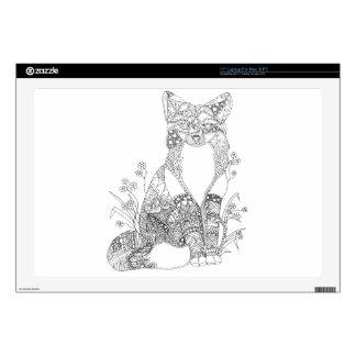 Adult Coloring Fox Animal Art Laptop Decal