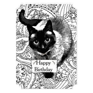 cat birthday coloring pages - photo#42
