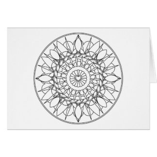 Adult Coloring Mandala Note Card with Envelope