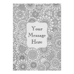 Adult Colouring Posters | Zazzle