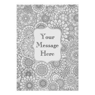 Adult Colouring Posters   Zazzle