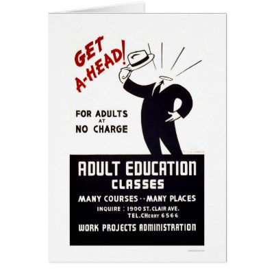 Adult Education Classes 1938 WPA Greeting Card by lc_wpa