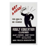 Adult Education Classes 1938 WPA Poster