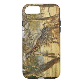 Adult female and juvenile Giraffe, Giraffa iPhone 8/7 Case