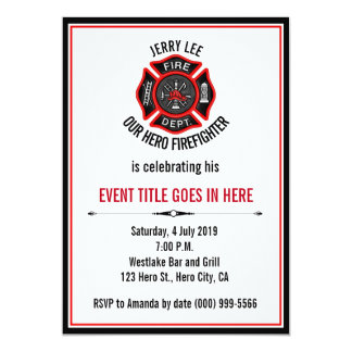 Adult Firefighter Event Retirement Birthday Card
