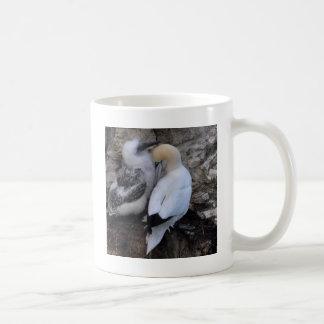 Adult Gannet with Chick Coffee Mug