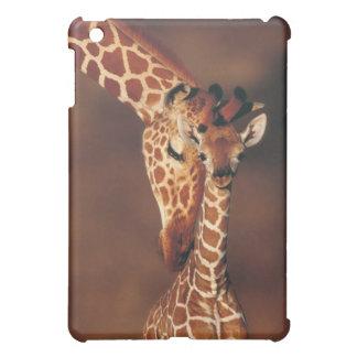 Adult Giraffe with calf (Giraffa camelopardalis) iPad Mini Cases