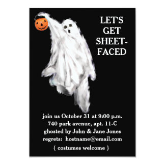 "Adult Halloween Party Invitations 5"" X 7"" Invitation Card"