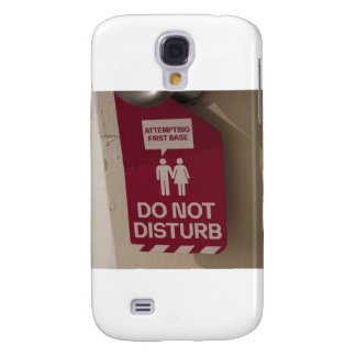 ADULT HUMOR Attempting First Base Sign Samsung Galaxy S4 Covers