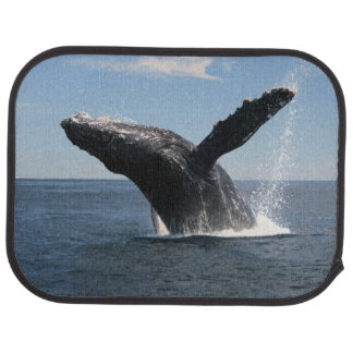 Adult Humpback Whale Breaching Car Mat