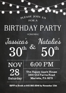 joint birthday invitations zazzle