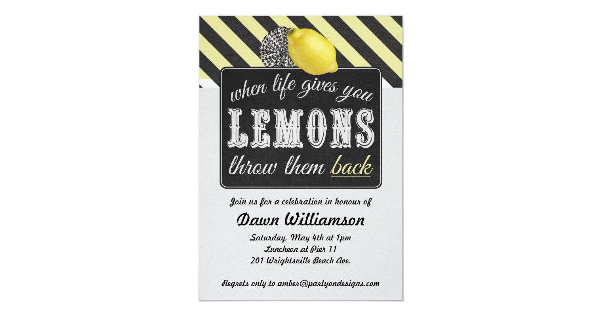Adult Lemonade Party - Divorce Party Girls Night Invitation | Zazzle.com