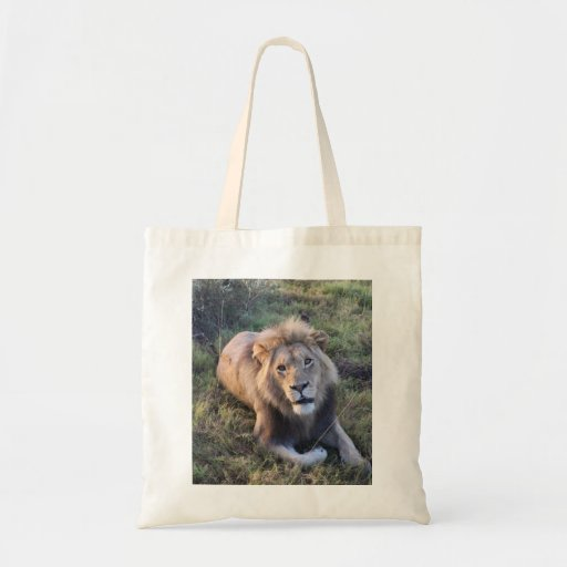 Adult lion tote budget tote bag