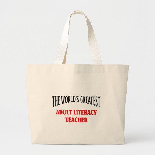 Adult Literacy Teacher Jumbo Tote Bag