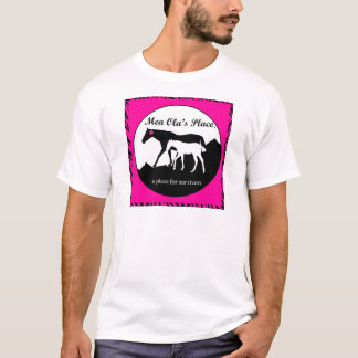 Adult - Logo in Pink and Black T-Shirt