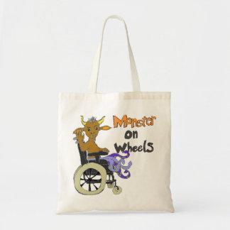 Adult Monster on Wheels Canvas Bag