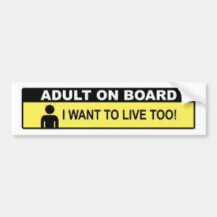 adult on board bumper sticker