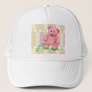 Adult Pastel Bear and Bottle Trucker Hat