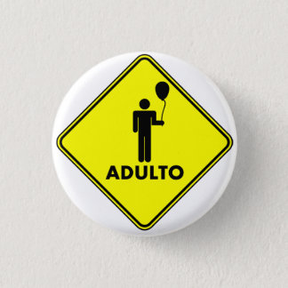 """""""ADULT"""" pin, 3,2 cm Button"""