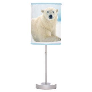 Adult polar bear large boar on the summer ice desk lamp