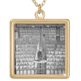 Adult School in the Chapel, on the Separate System Square Pendant Necklace
