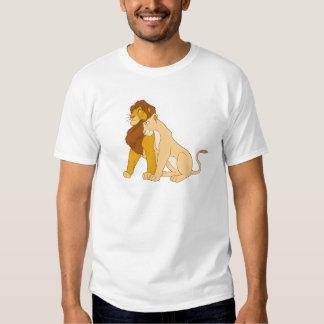 Adult Simba de rey y Nala Disney del león Playeras