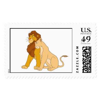 Adult Simba de rey y Nala Disney del león Sello Postal
