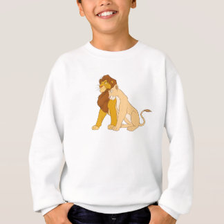 Adult Simba de rey y Nala Disney del león Sudadera