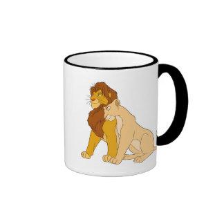 Adult Simba de rey y Nala Disney del león Taza De Dos Colores