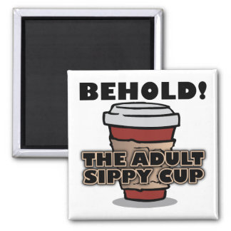 Adult Sippy Cup Coffee Funny Fridge Magnet