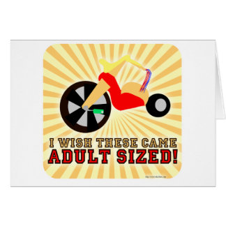 Adult Sized! Greeting Card