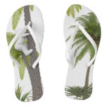 Adult slipper with Fine Straps Coconut palm